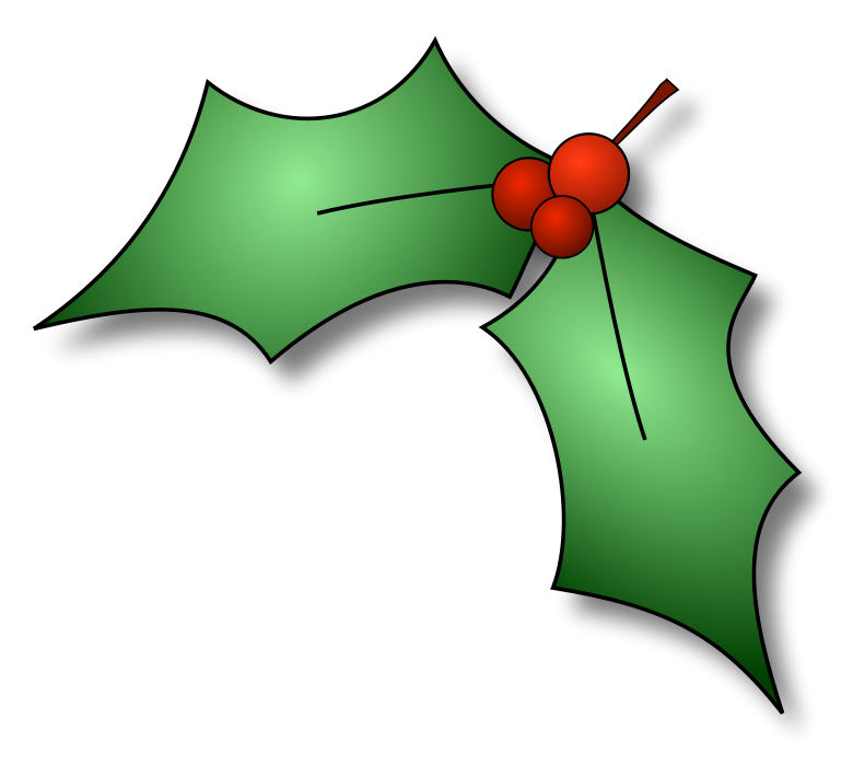 free xmas clipart holly - photo #4
