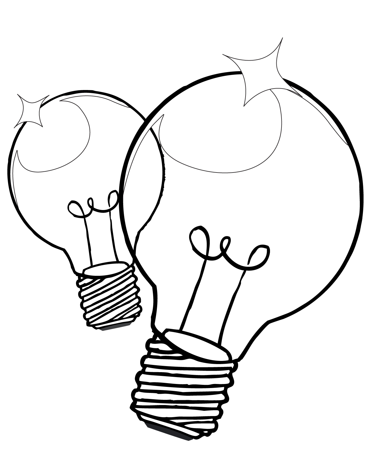 christmas tree light bulb coloring pages | Christmas Light Bulb Coloring Page | Clipart Panda - Free ...