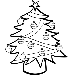 christmas tree light bulb coloring pages | Decorated Christmas Tree | Clipart Panda - Free Clipart Images