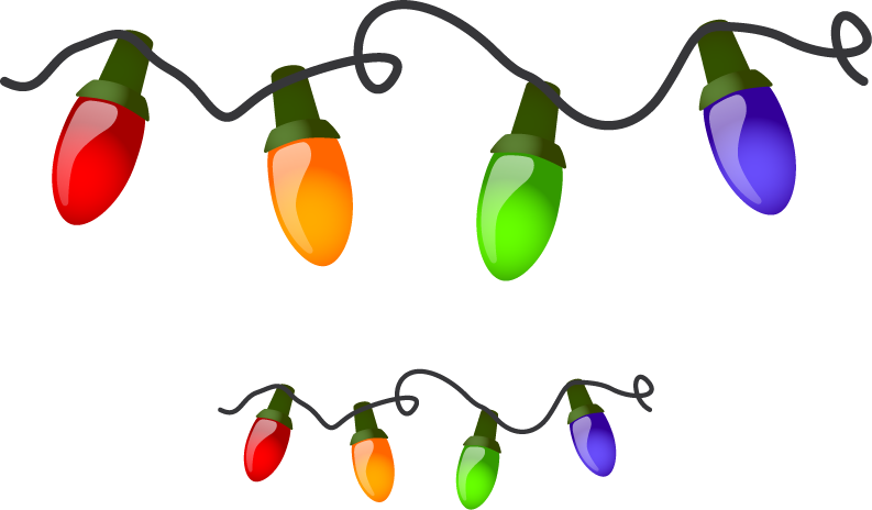 Christmas light bulb outline clipart panda free