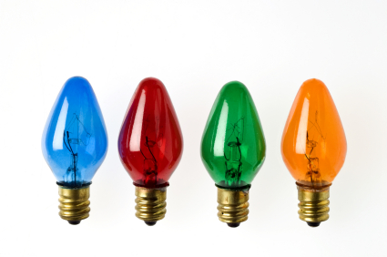 Miniature Christmas Light Bulbs