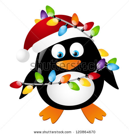 christmas-light-bulb-pattern-stock-vector-penguin-with-christmas-light ...