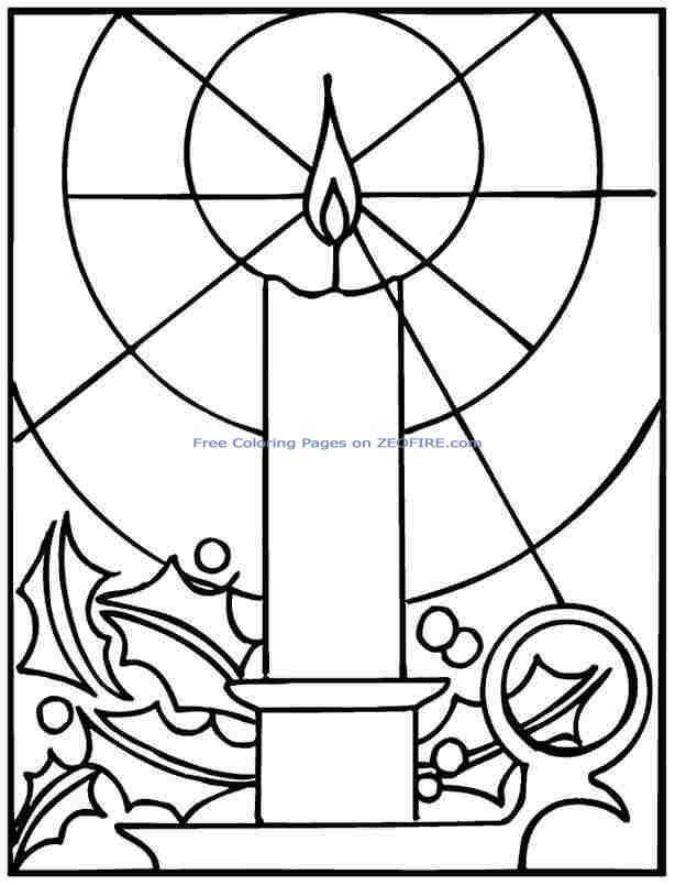 christmas stained glass window templates - christmas lights coloring pages clipart panda free