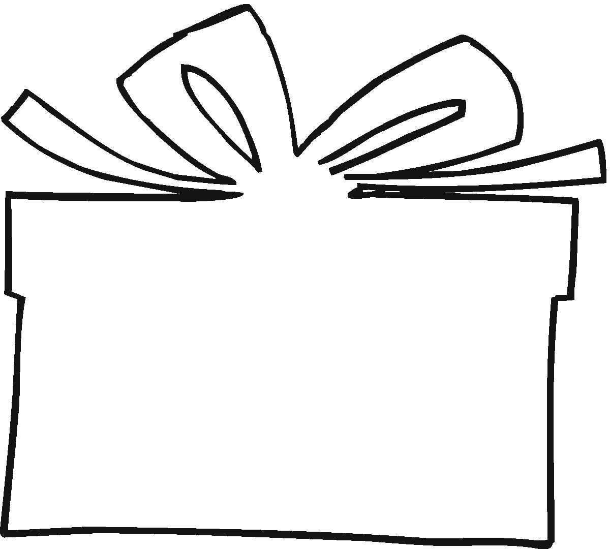 Christmas Box Coloring Pages Coloring Pages of Present Box