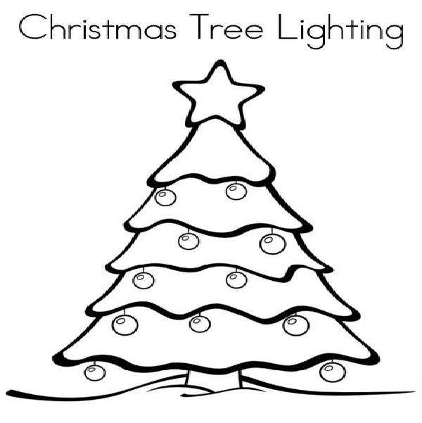 Christmas Lighting Free Colouring Pages Printable Lights Coloring Pages
