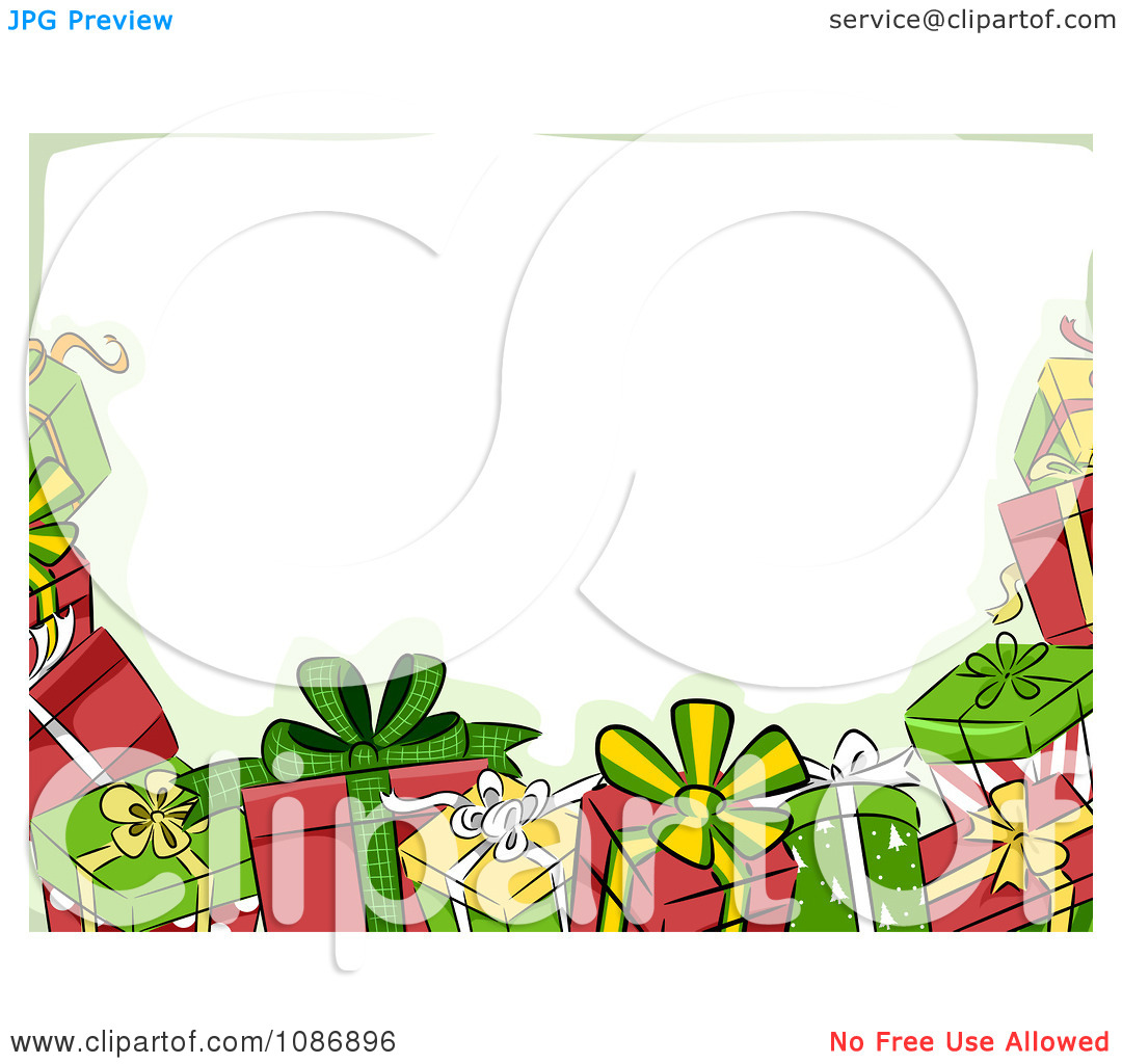Christmas music notes border clipart border of christmas gifts and