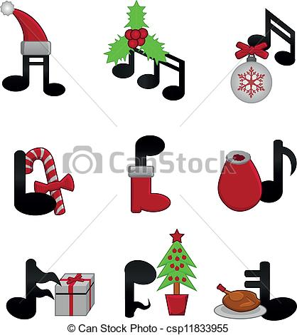 Christmas Music Notes Clipart | Clipart Panda - Free Clipart Images