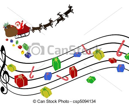 Christmas Music Notes Background | Clipart Panda - Free Clipart Images