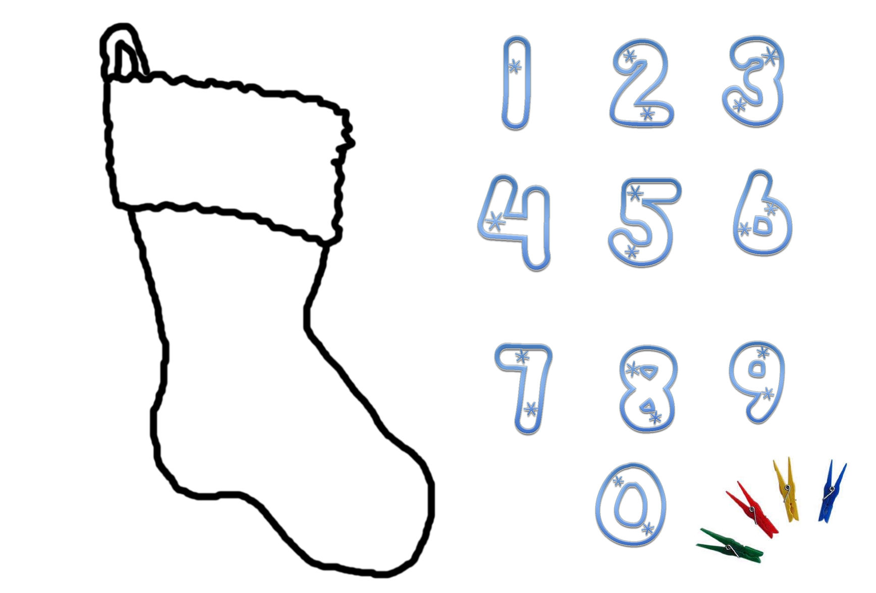 Christmas Numbers Printable Clipart Panda