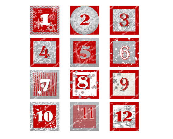 Christmas Numbers Printable | Clipart Panda - Free Clipart Images