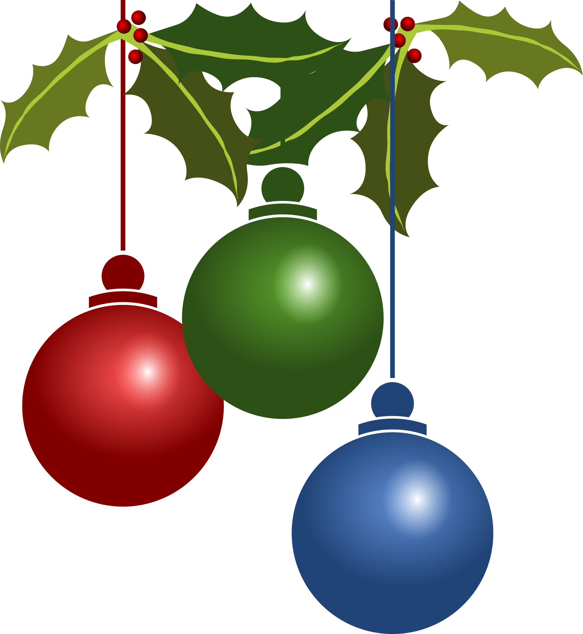 Holly christmas ornaments - Christmas 20ornament 20clipart