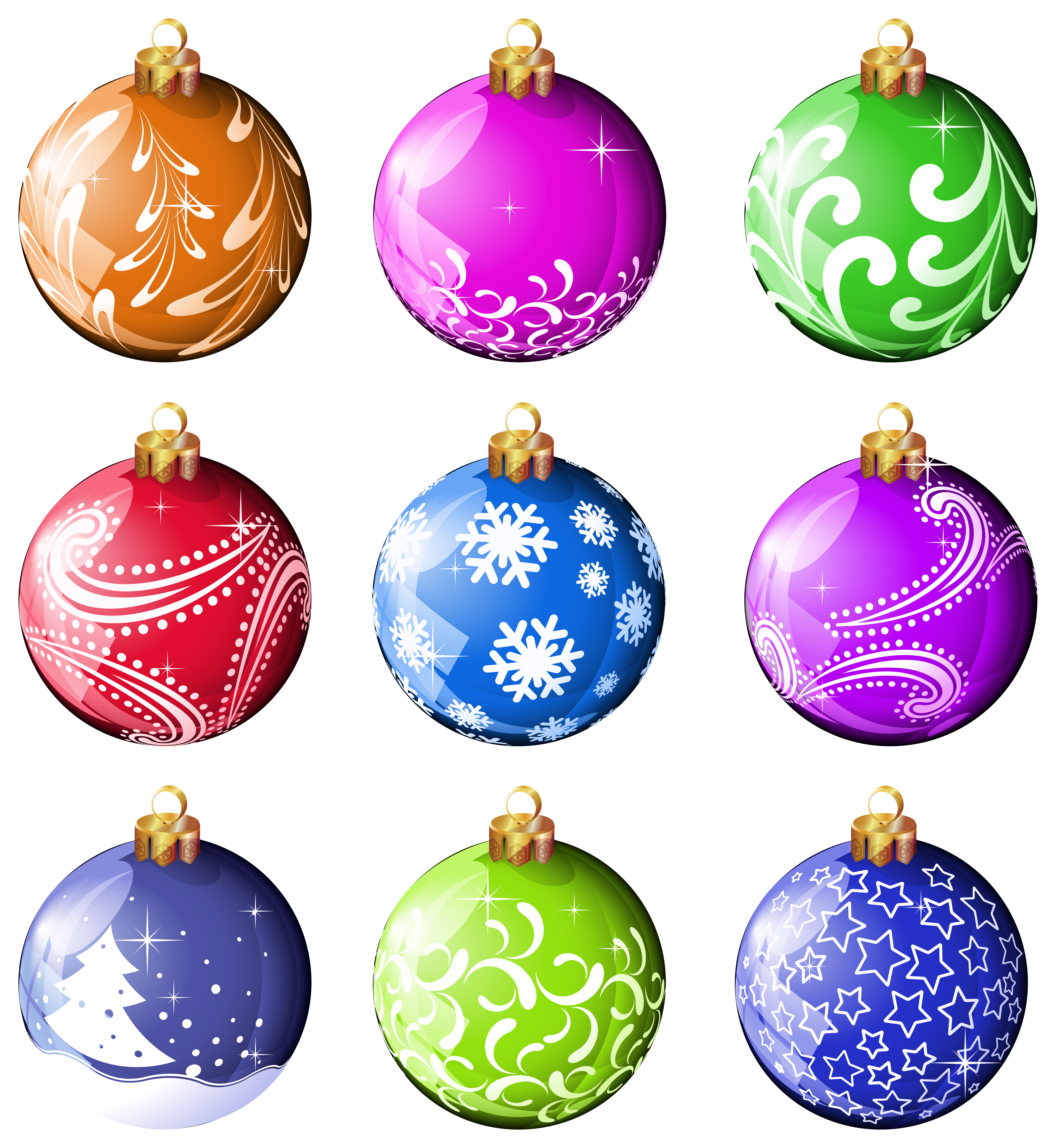Christmas ornaments clipart panda free
