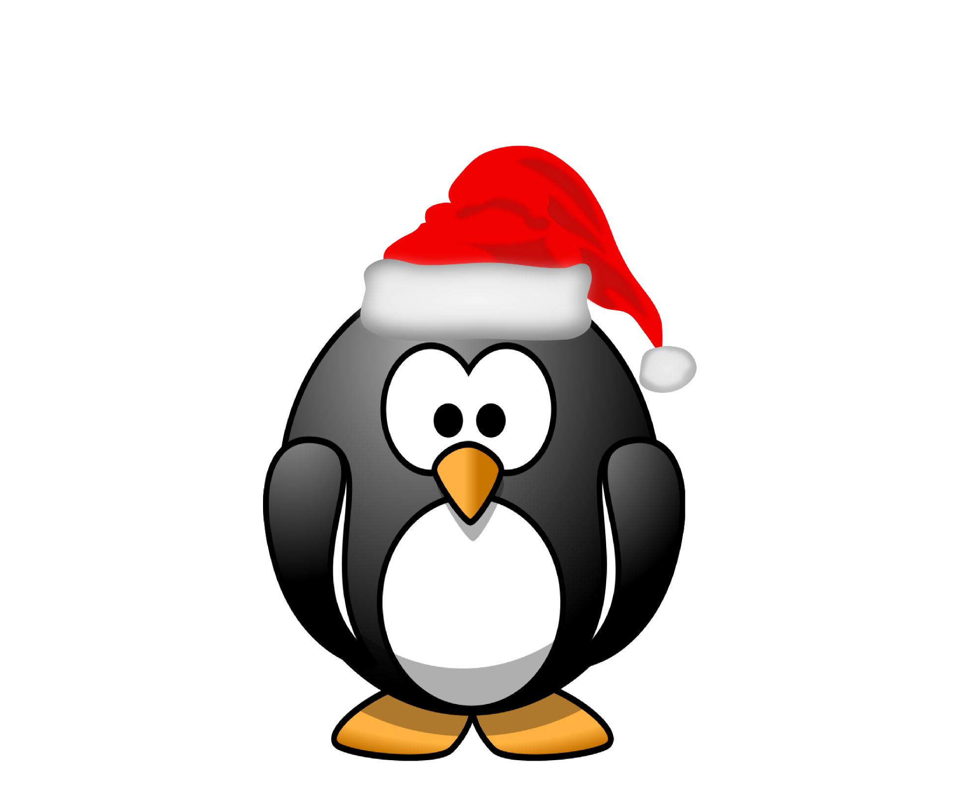 christmas penguin clipart black and white clipart panda Christmas Penguin Cartoon christmas penguin clipart black and white