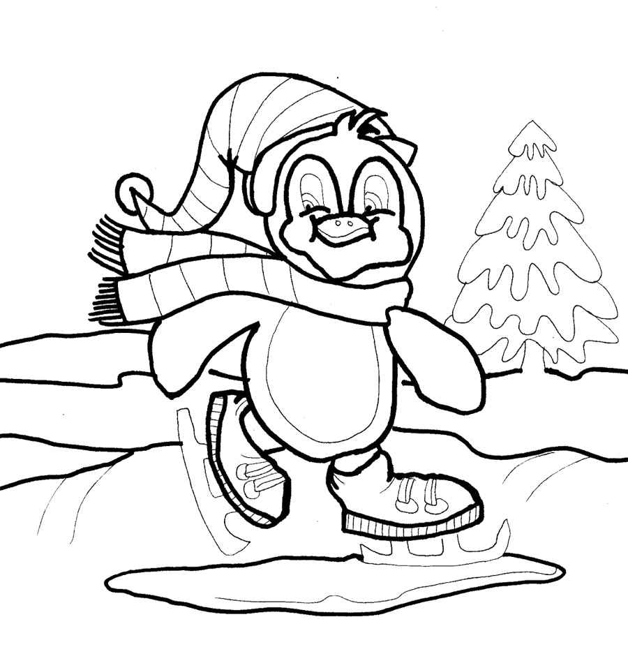 Coloring Sheets Penguins - Christmas 20penguin 20coloring 20pages