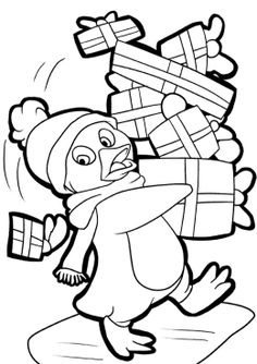 coloring pages of christmas penguins - christmas coloring pages clipart panda free clipart images