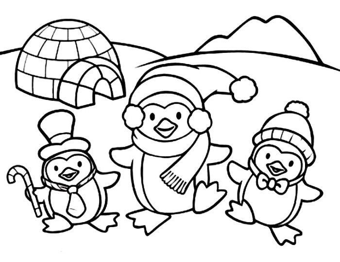cute christmas animals coloring pages photo3