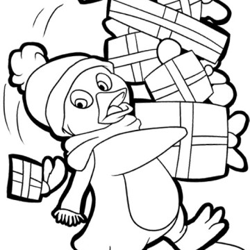 Penguins free coloring pages for Free coloring pages of penguins
