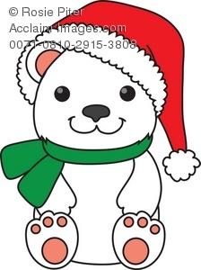 Christmas Polar Bear Clipart Clipart Panda Free