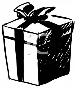 christmas%20present%20clipart%20black%20and%20white