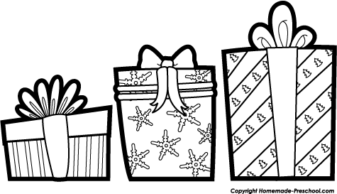 Christmas Present Clipart Black And White | Clipart Panda ...