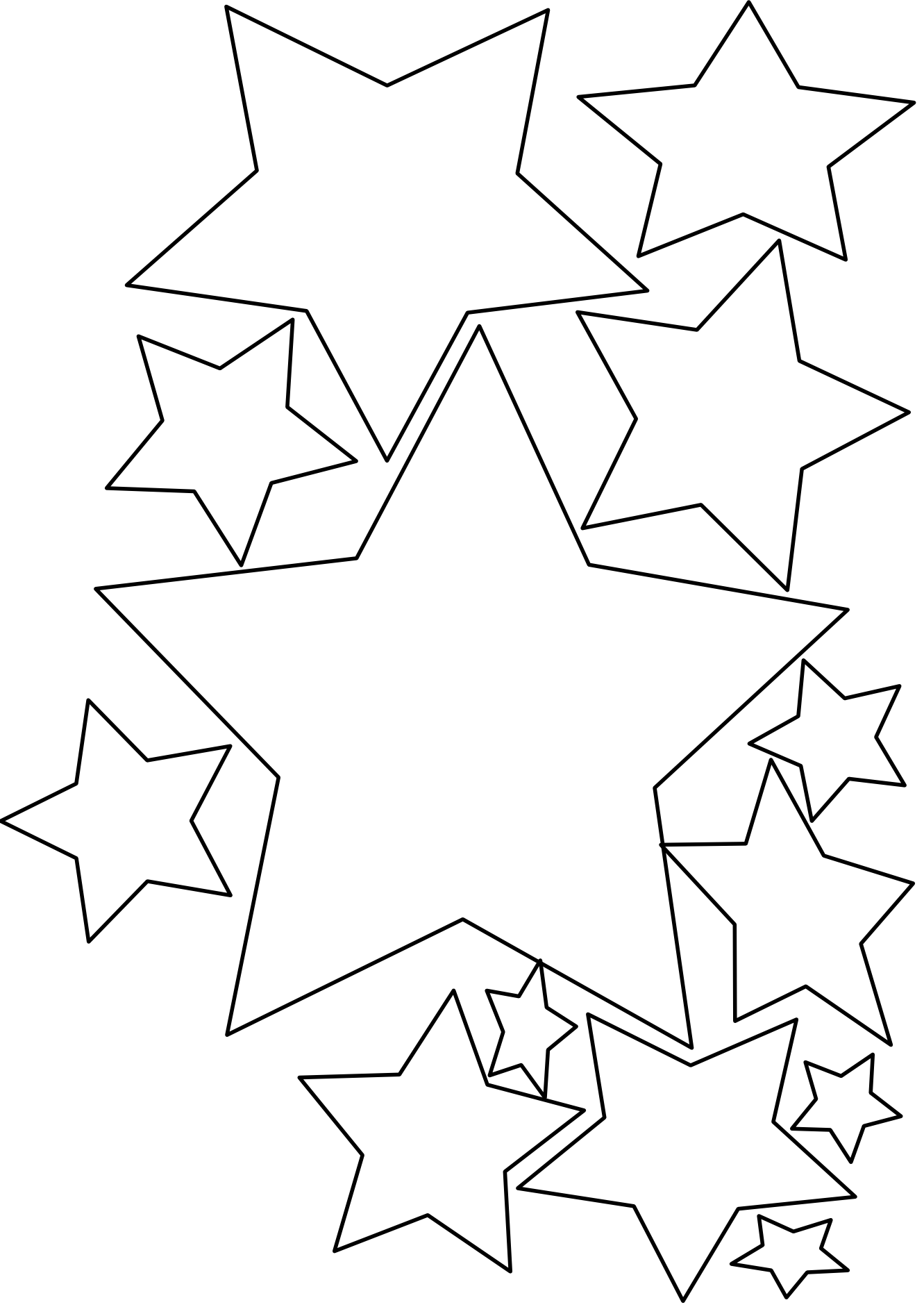 Christmas star clip art black and white clipart panda