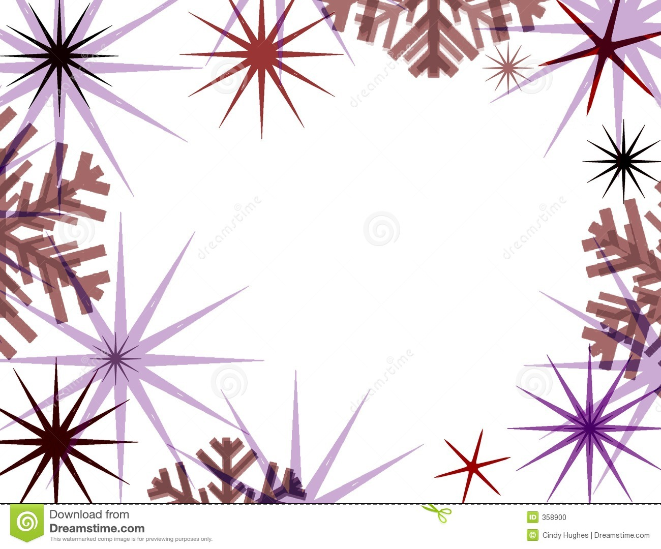 Star and snowflake border. | Clipart Panda - Free Clipart Images