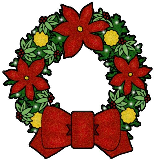 christmas wreath clipart clipart panda free clipart images rh clipartpanda com wreath clip art free black and white wreath clip art free black and white