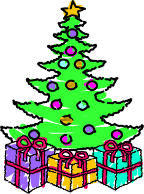 christmas tree with presents clipart clipart panda free clipart rh clipartpanda com christmas tree with presents and santa clip art christmas tree with gifts clipart