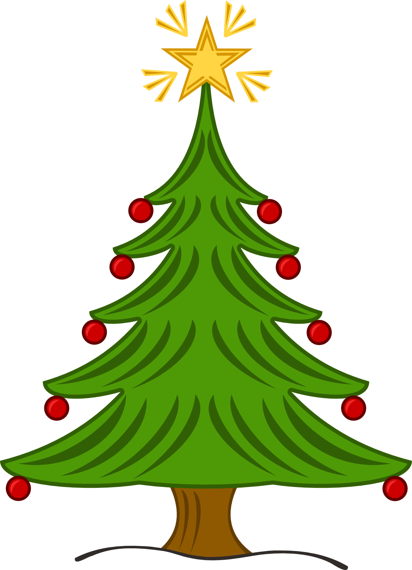 Christmas Tree Clipart Black And White | Clipart Panda - Free Clipart Images