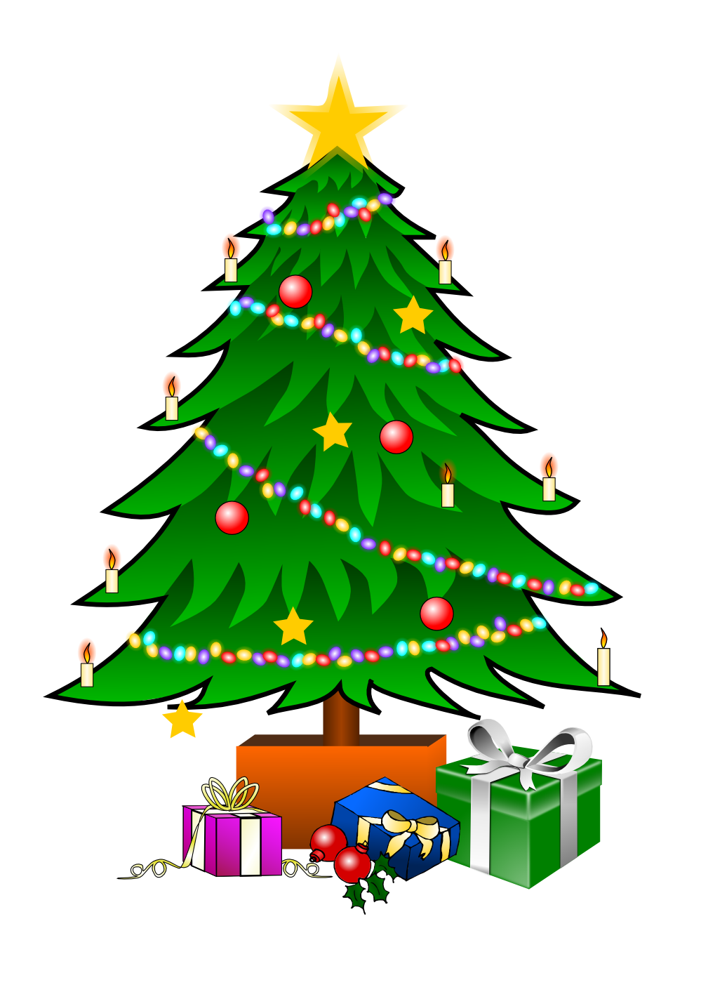This nice Christmas tree with | Clipart Panda - Free Clipart Images