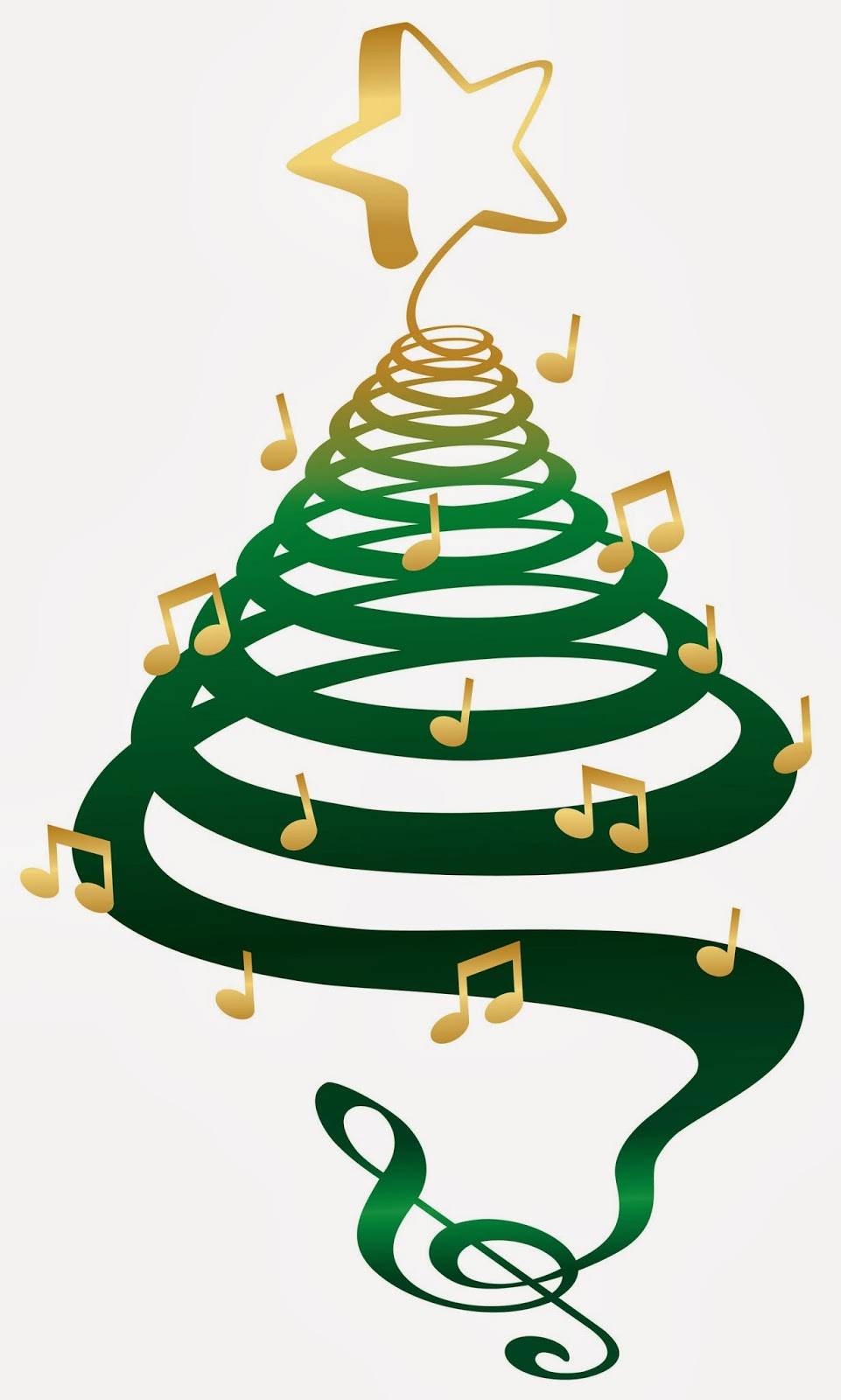 Christmas Tree Music Notes | Clipart Panda - Free Clipart Images