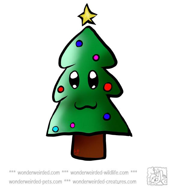 xmas tree cartoon clip art - photo #50