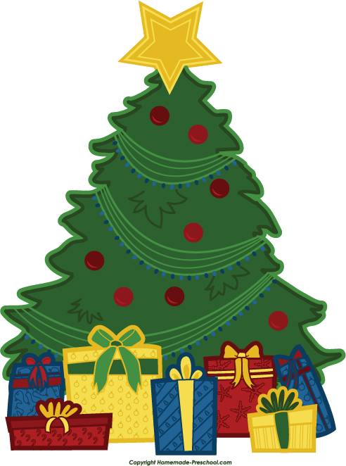 Christmas Tree With Presents Clipart | Clipart Panda - Free Clipart ...