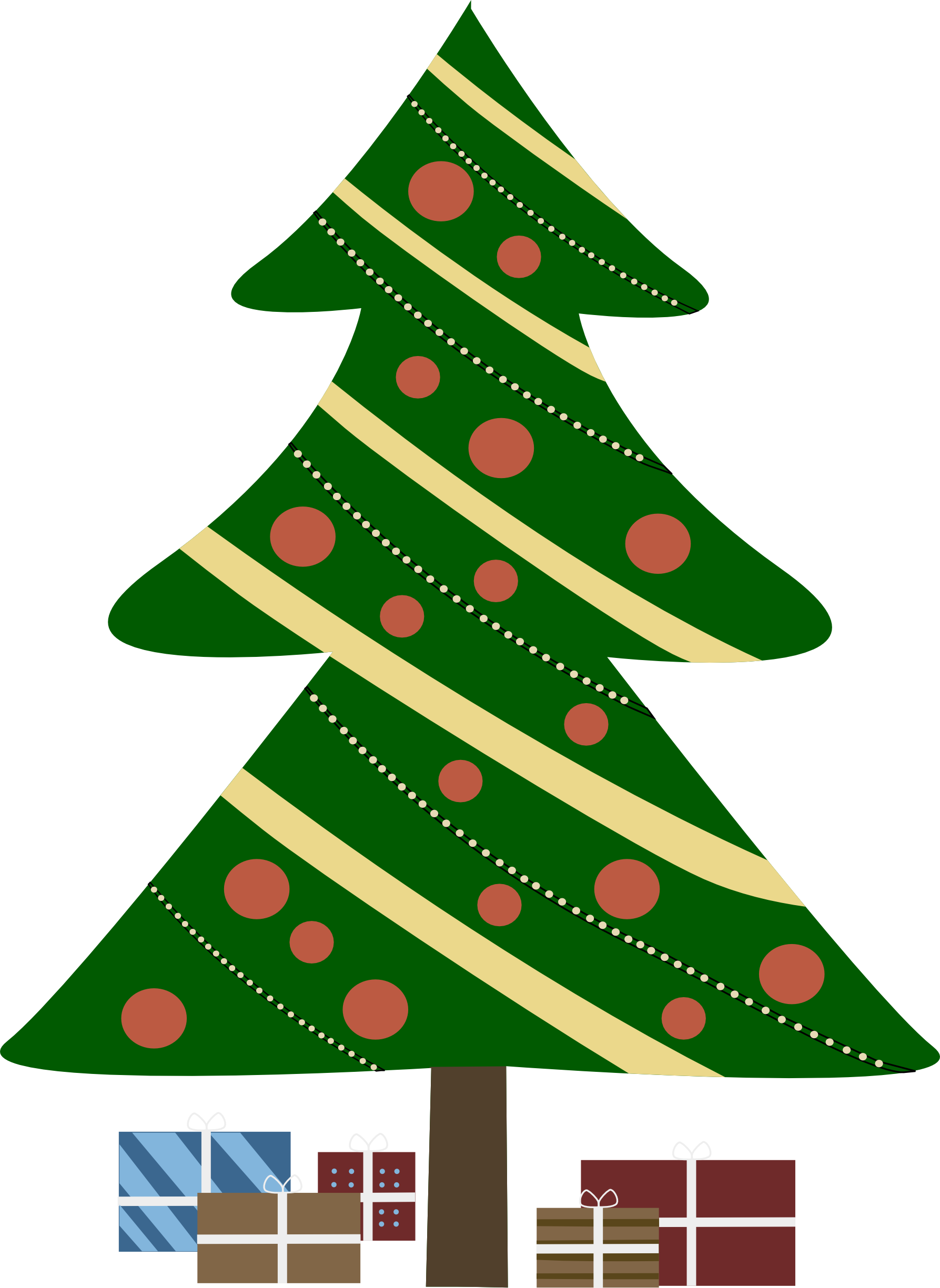 Christmas Tree With Presents Clipart Christmas Tree