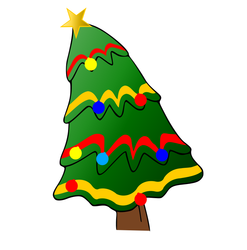 Christmas Tree Cliparts: Christmas Tree With Presents Clipart