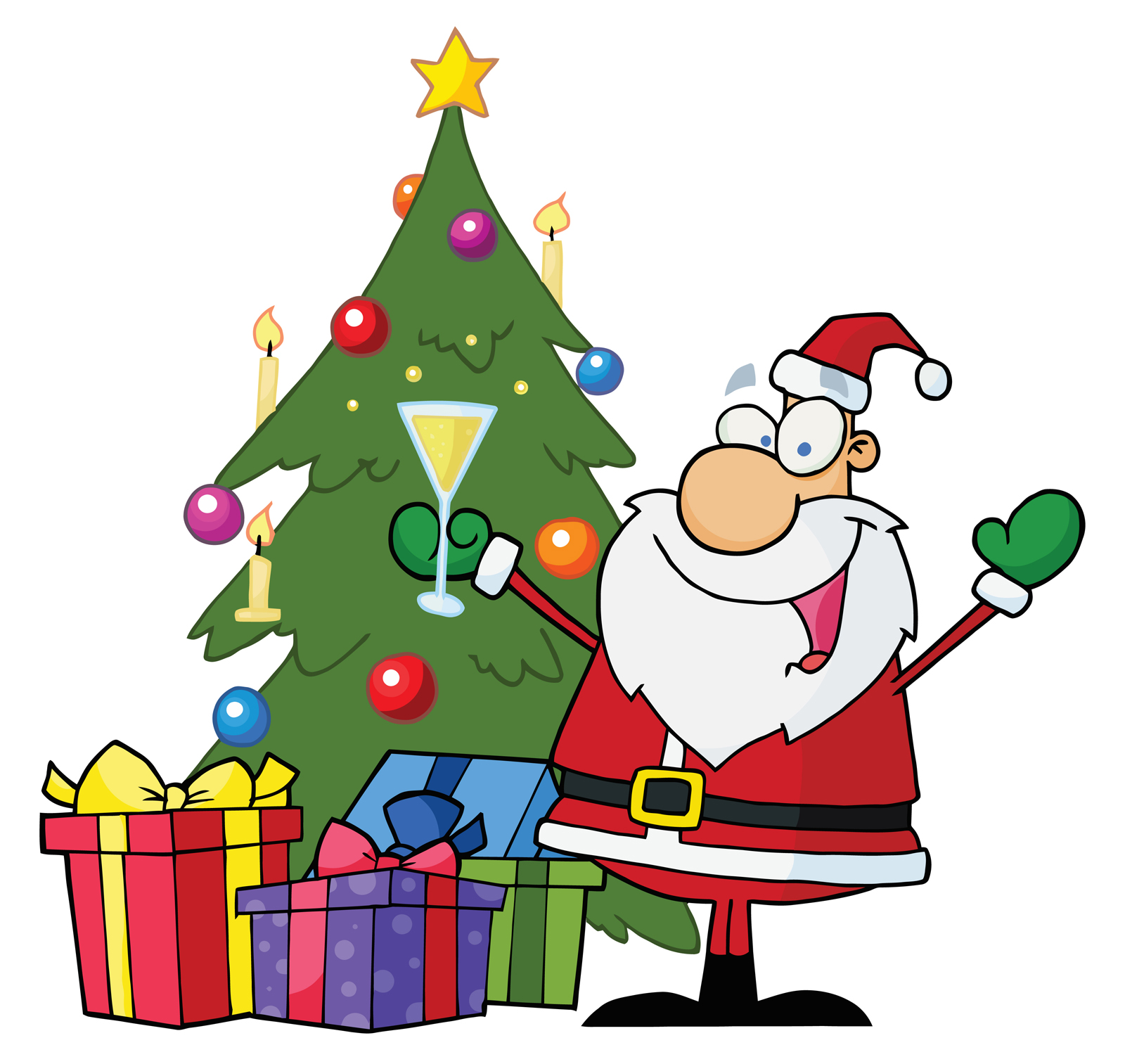Clipart Christmas Tree With Presents | Clipart Panda - Free Clipart ...