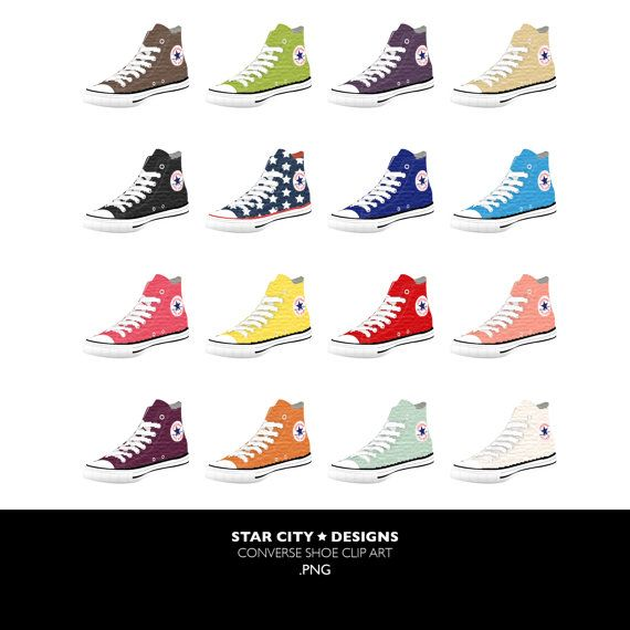 converse sneakers clipart