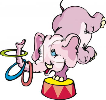 Circus Elephant Clipart Black And White | Clipart Panda - Free Clipart ...