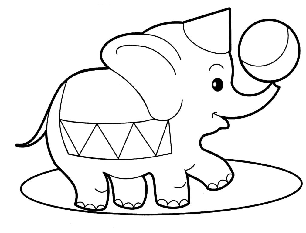 Circus Elephant Coloring Pages | Clipart Panda - Free Clipart Images