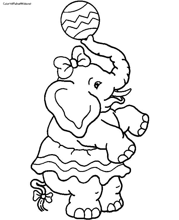 circus clown juggling balls circus elephant mandala coloring