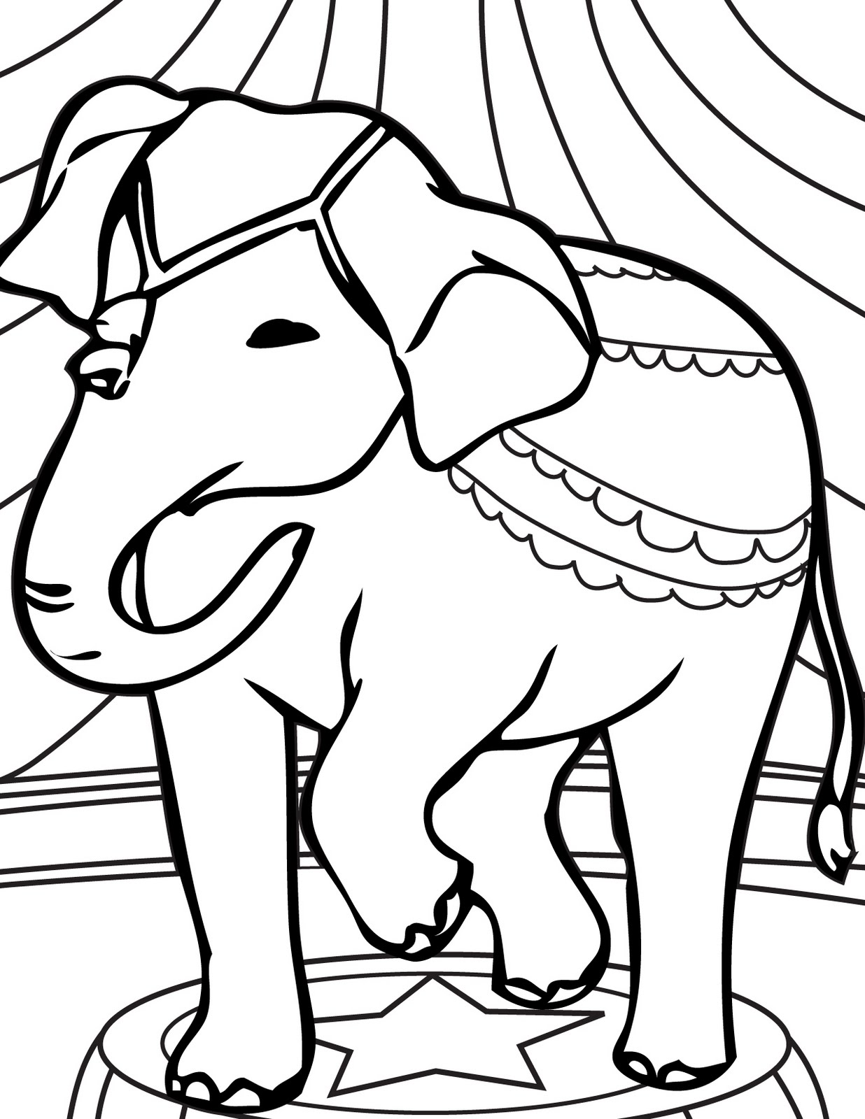Circus Elephant Coloring Pages Clipart Panda Free Clipart Images
