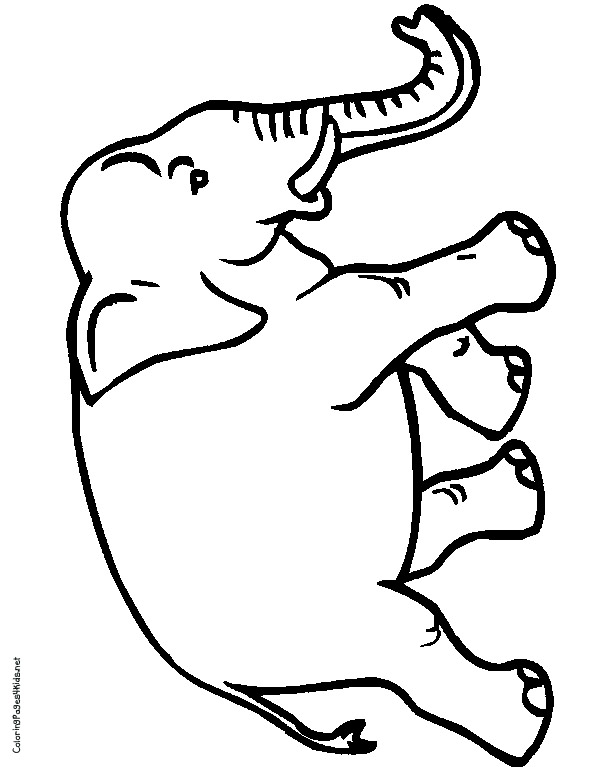Free Coloring Pages Of Circus Elephants