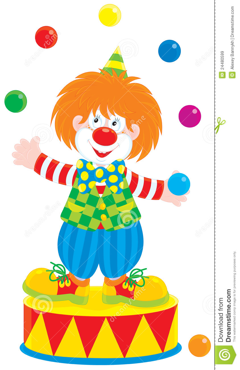 Clown with balloons coloring page - cfapreparation.info