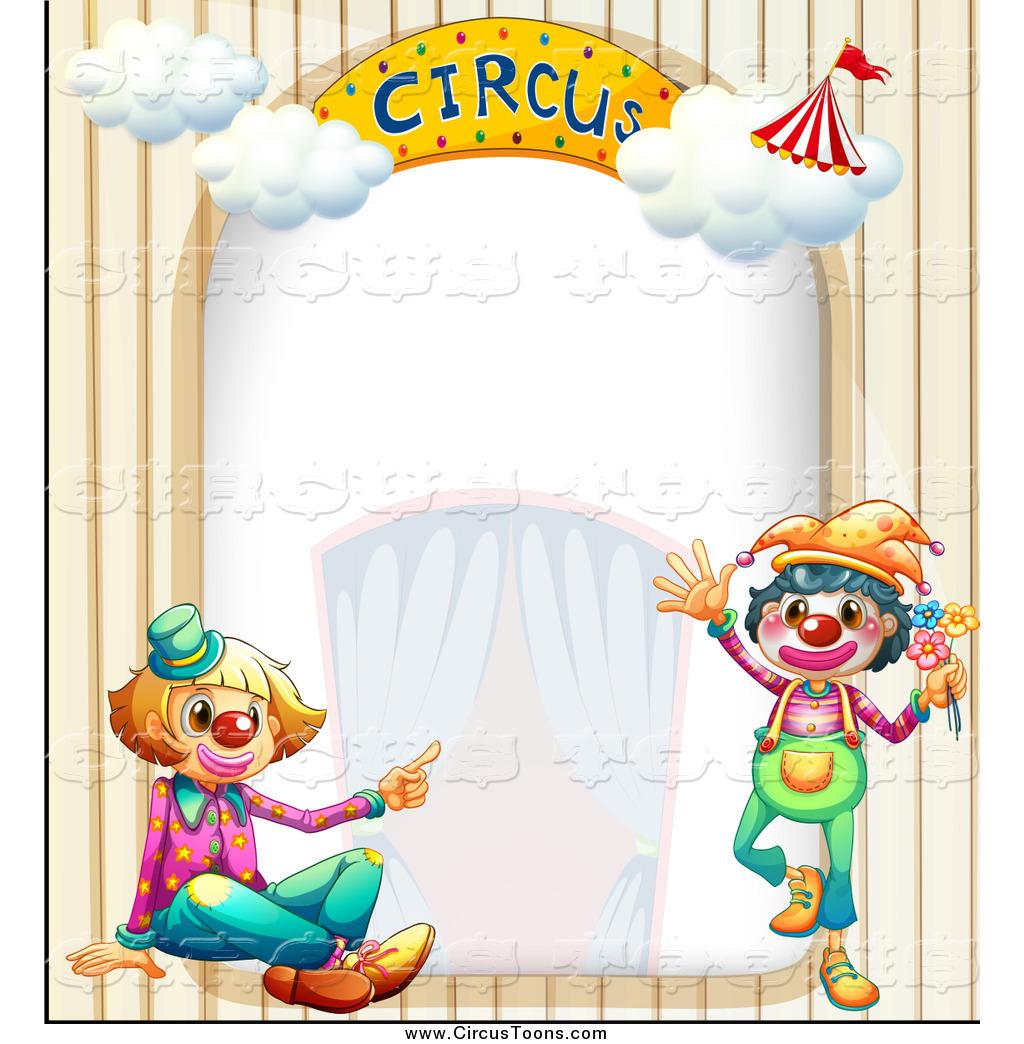 Preschool border page border - Circus 20page 20border