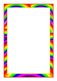 Rainbow Themed A4 Page Borders Clipart Panda Free