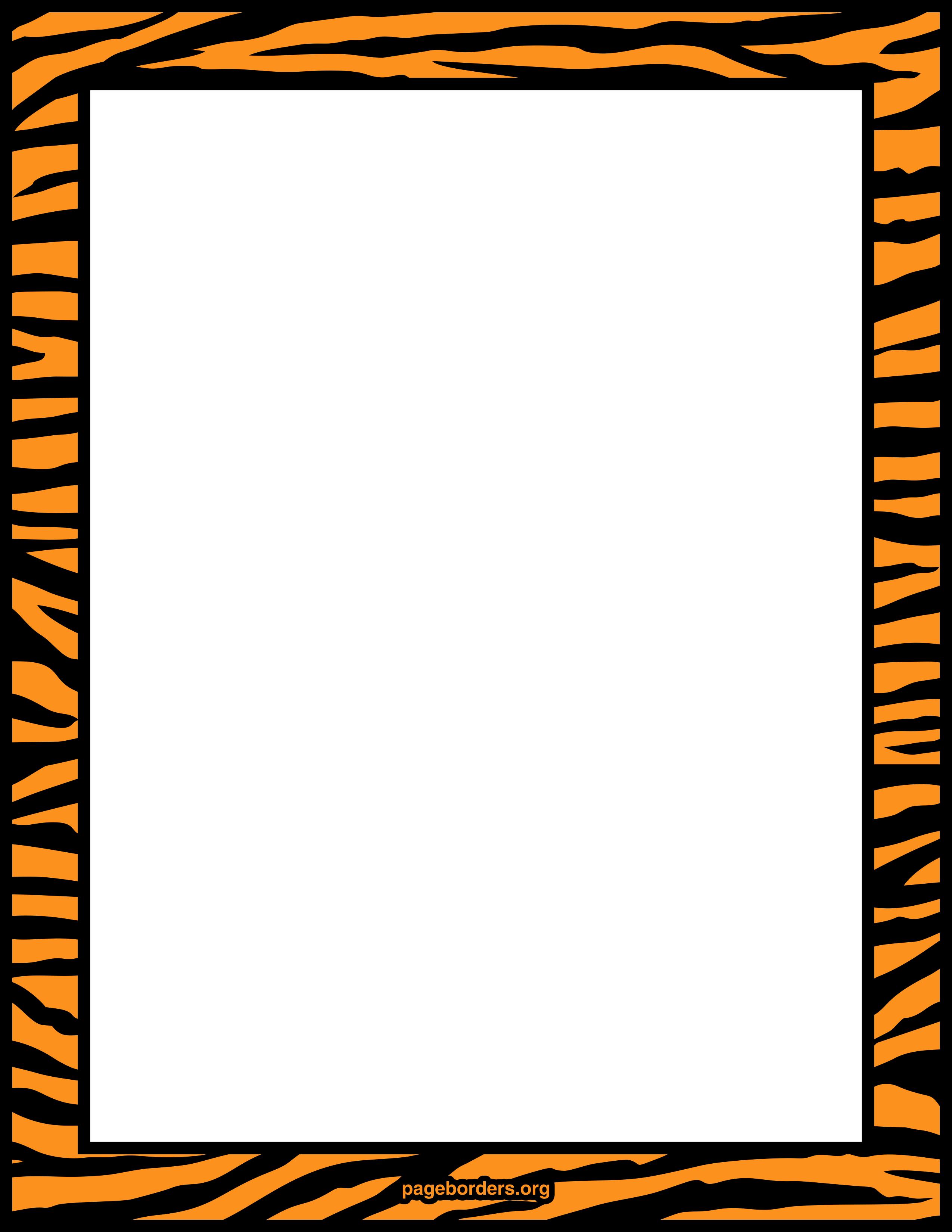 tiger print clip art - photo #12