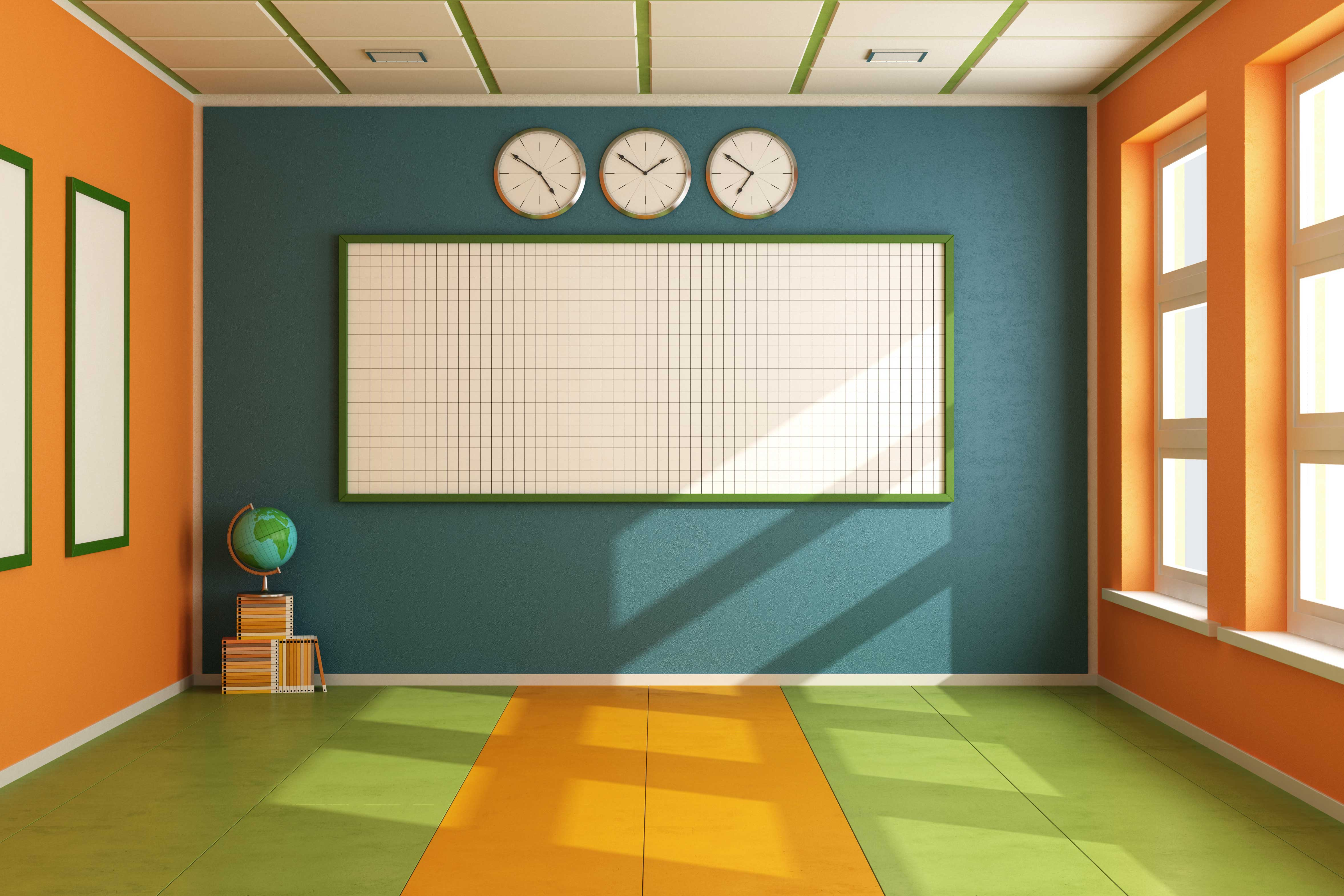 Modern Classroom Vector ~ Classroom clipart panda free images