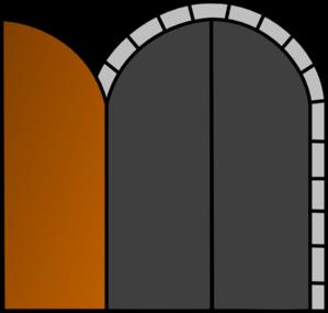 Open Wooden Door clip art