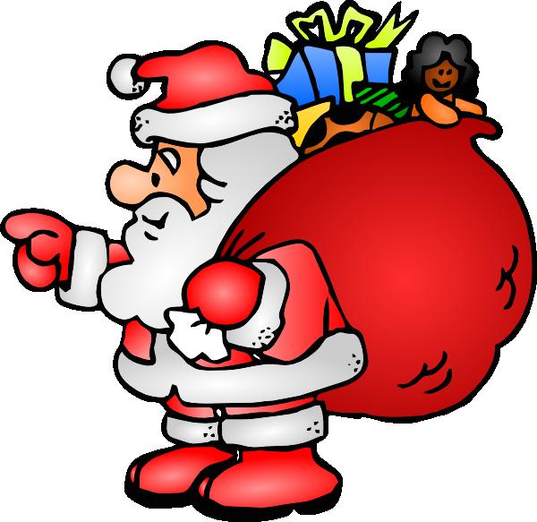 Santa Claus Bag Clip Art at Clker.com vector clip art online ...