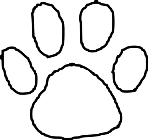 Hand outline template printable clipart panda free for Tiger paw template